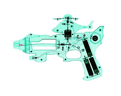 Electronic Photograph - Toy Gun by Brendan Fitzpatrick