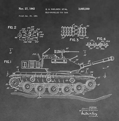 Toy Store Digital Art - Toy Military Tank Patent by Dan Sproul