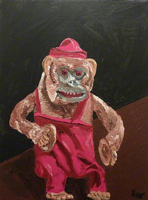 Painting - Toy Monkey With Cymbals by Joshua Redman