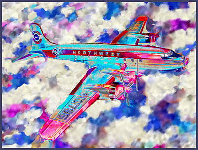 Digital Art - Toy Plane Fly's Imaginary Sky's  by Expressionistart studio Priscilla Batzell