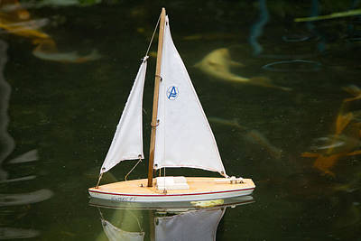 Toy Sailboat Art Print