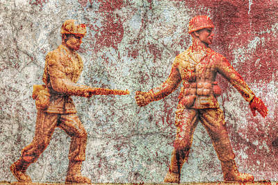 Toy Soldiers Battle Hardened Art Print