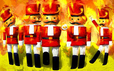 Painting - Toy Soldiers Nutcracker by Bob Orsillo