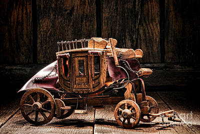 Toy Stagecoach Art Print by Olivier Le Queinec