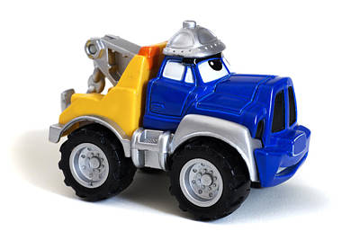Toy Truck Photograph - Toy Tow Truck by Donald  Erickson