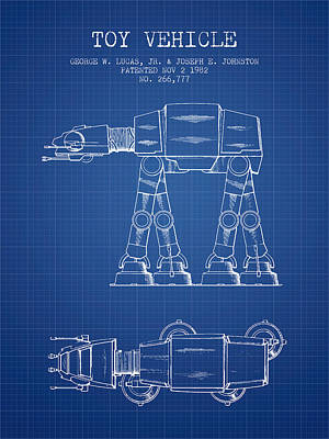 Android Digital Art - Toy Vehicle Patent From 1982 - Blueprint by Aged Pixel