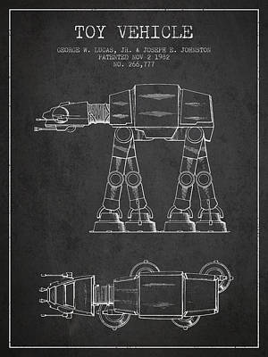 Toys Digital Art - Toy Vehicle Patent From 1982 - Dark by Aged Pixel