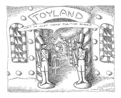 Toy Store Drawing - Toyland by John O'Brien
