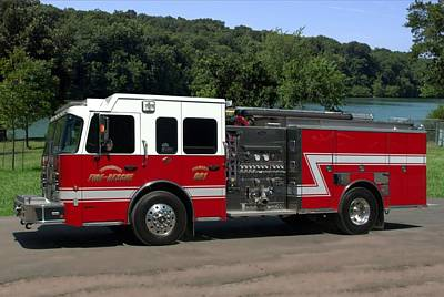 Photograph - Toyne Fire Apparatus Pumper Truck by Tim McCullough