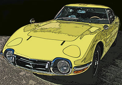 Toyota 2000 Gt Art Print by Samuel Sheats