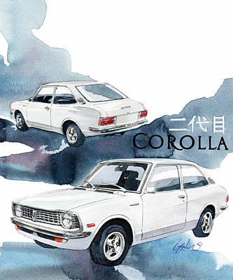 Toyota Corolla  Art Print by Yoshiharu Miyakawa