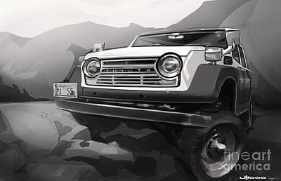 Digital Artwork Digital Art - Toyota Fj55 Land Cruiser by Uli Gonzalez