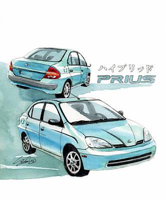 Hybrid Painting - Toyota Prius by Yoshiharu Miyakawa