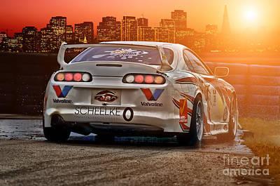 Jdm Photograph - Toyota Supra - Sunset by Martin Slotta