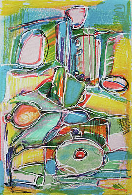 Hari E. Thomas Abstract Painting - Toys For The Children by Hari Thomas