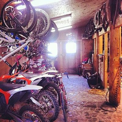 Mtb Photograph - #toys #garage #dirtbikes #mtb #mtblife by Andrew Wilz