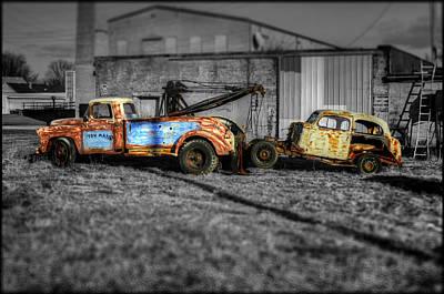 Old Tow Truck Photograph - Toys by Jeffrey Platt