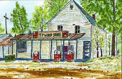 Painting - Tp Wood Store by Patrick Grills