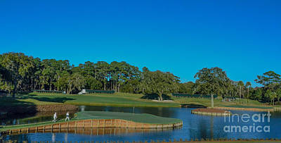 Photograph - Tpc Sawgrass Island Green by Randy J Heath