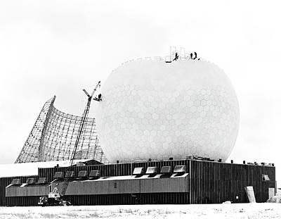 Tr Radome Under Construction Art Print by Library Of Congress