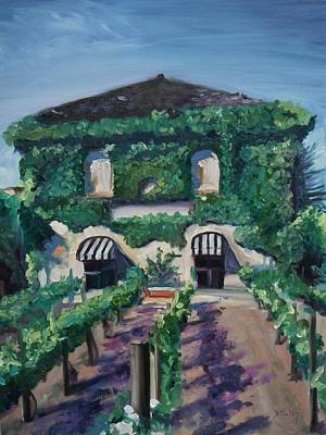 California Vineyard Painting - Tra Vigne by Donna Tuten