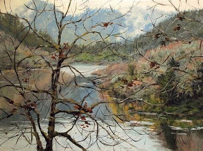 Oregon Painting - Traces Of Autumn by Karen Ilari