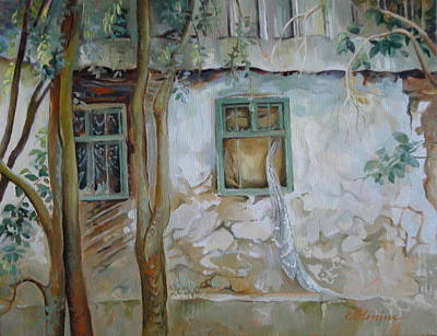 Abandoned Houses Painting - Traces Of Time by Elena Oleniuc