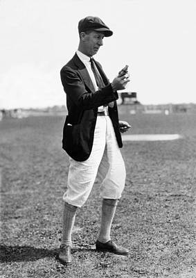 Photograph - Track & Field Starter Man by Underwood Archives