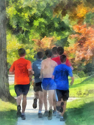 Track Team Photograph - Track Practice by Susan Savad