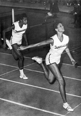 Track Star Wilma Rudolph Print by Underwood Archives