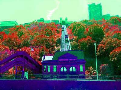 Incline Digital Art - Track Up Red Hill by Joseph Wiegand