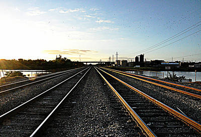 Photograph - Tracks Ahead by John Black