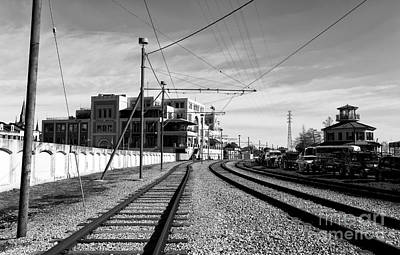 Photograph - Tracks In New Orleans Mono by John Rizzuto