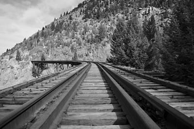 Butte Montana Photograph - Tracks by Kevin Bone