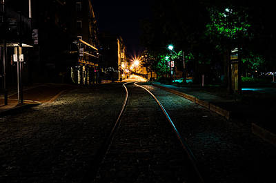 Photograph - Tracks On The Riverwalk In Savannah  by Anthony Doudt