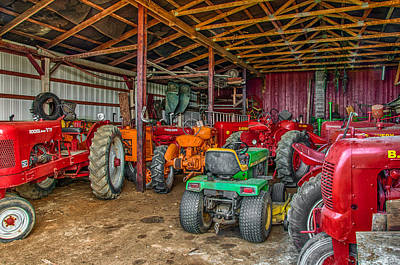 Photograph - Tractor Barn by Gene Sherrill