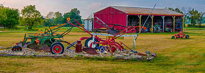 Photograph - Tractor Collector Landscape by Gene Sherrill