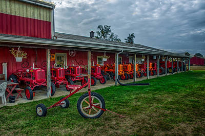 Photograph - Tractor Display Barn by Gene Sherrill