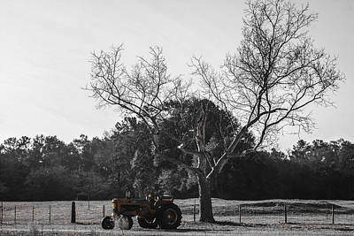 Tractor For Sale Art Print by Steven  Taylor