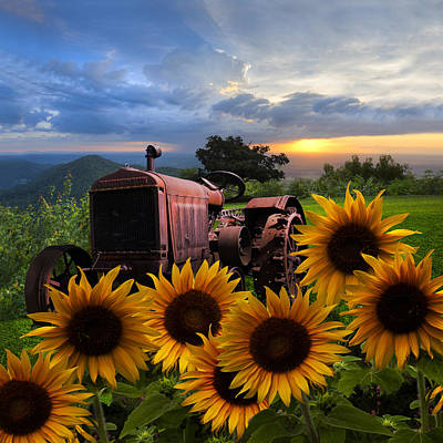Farm Scene Photograph - Tractor Heaven by Debra and Dave Vanderlaan