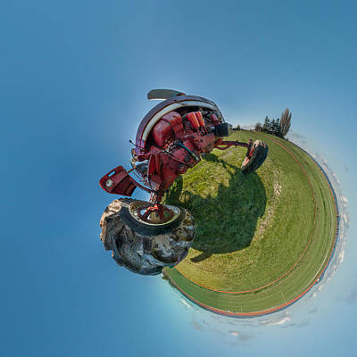 Tractor In A Field, Everett, Snohomish Art Print by Panoramic Images