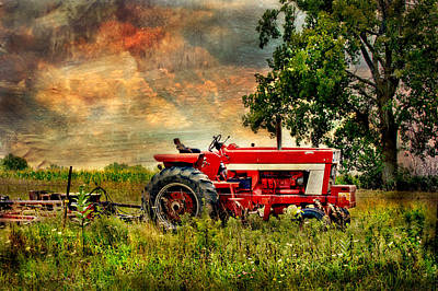 Photograph - Tractor In Field by Virginia Folkman