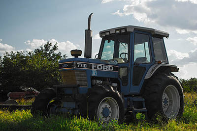 Photograph - Tractor In The Light by Nathan Hillis