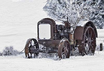 Photograph - Tractor In The Snow by Don Durfee