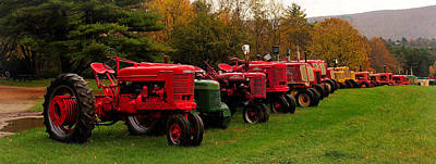 Tractor Lineup Art Print by Don Dennis