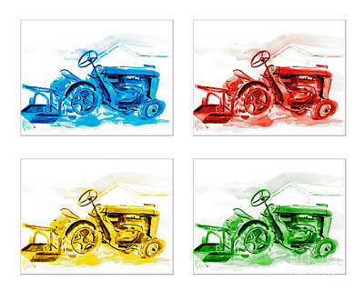 Special Occasion Painting - Tractor Mania  by Kip DeVore