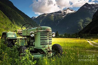 Photograph - Tractor by Maurizio Bacciarini