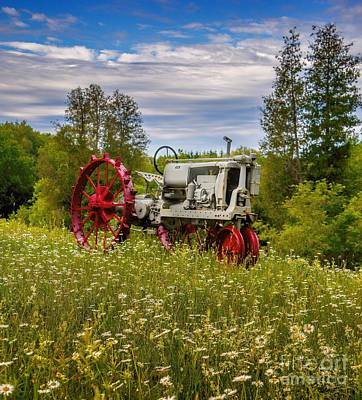 Photograph - Tractor Out To Pasture by Henry Kowalski