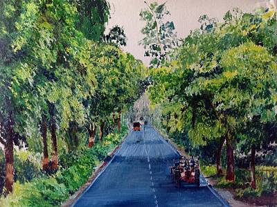 Painting - Tractor Ride by Aditi Bhatt