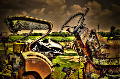 Photograph - Tractor Seat by David Morefield